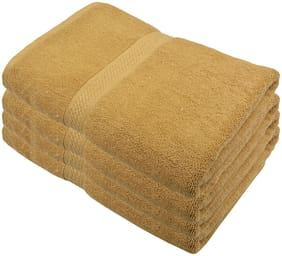 Fresh From Loom 450 GSM Cotton Bath towel ( 4 pieces , Beige )
