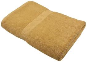Fresh From Loom 450 GSM Cotton Bath towel ( 1 piece , Brown )
