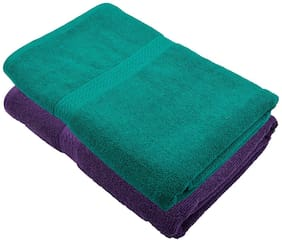 Fresh From Loom 450 GSM Cotton Bath towel ( 2 pieces , Multi )