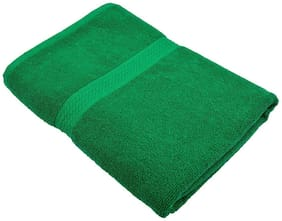 "Bath Towel 450 GSM Cotton Fabric (Size -27 x 54"") - Green Color By Fresh From Loom"