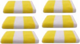 Bathe & Soak Pack of 6 Microfiber Bath Towel Cabana 70x140 Yellow