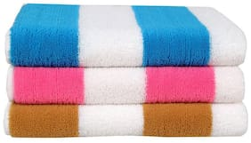 Bathe & Soak Pack Of  Microfiber Cabana Bath Towel  (70X140 Cms) - Set Of 3 Assorted Pcs