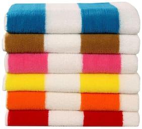 Bathe & Soak Pack of 6 Microfiber Bath Towel Cabana 70x140 cms Assorted