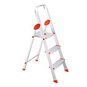 Bathla Aluminium 3 Steps Ladder ( Silver , Front Step )