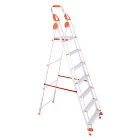 Bathla Aluminium 6 Steps Ladder ( Silver , Front Step )