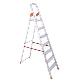 Bathla Aluminium 7 Steps Ladder ( Silver , Front Step )