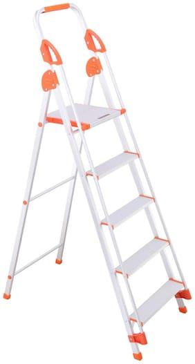 Bathla Aluminium 4 Steps Ladder ( Silver , Front Step )