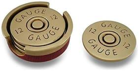 Battleraddle 4pcs 12 Gauge Shotgun Shell Coaster Set