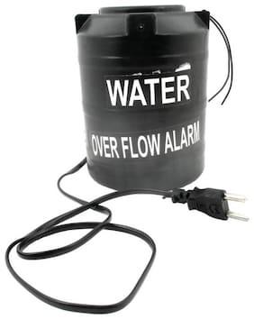 BAZAAR GALI Water Overflow Alarm Tank with Loud Alert Siren System (1pc) Black