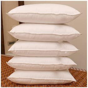 Bed And Sleeping Pillow Fibre Filled Standard Size 60x40 CM  ( Pack Of 5 )