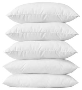 Bed/ Sleeping Pillow Fibre Filled Standard Size 60x40 CM (Pack Of 5)