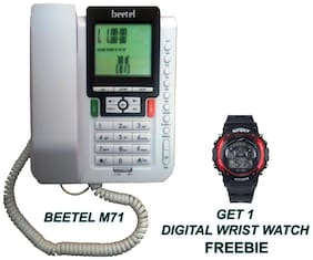 Beetel B M71 Corded Landline Phone ( White )