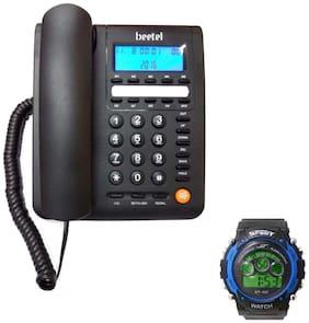 Beetel Beetel M59 Black Caller Id Phone Corded Landline Phone ( Black )