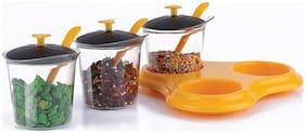 Beezy Multipurpose Plastic Spice Storage Rack/Pickle Jar Set For Dining
