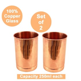 Beezy 100% Pure Premium Quality Plain Copper Glass 250 ml