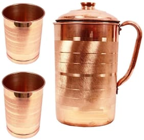 Beezy Pure Copper Jug  With 2 Glass