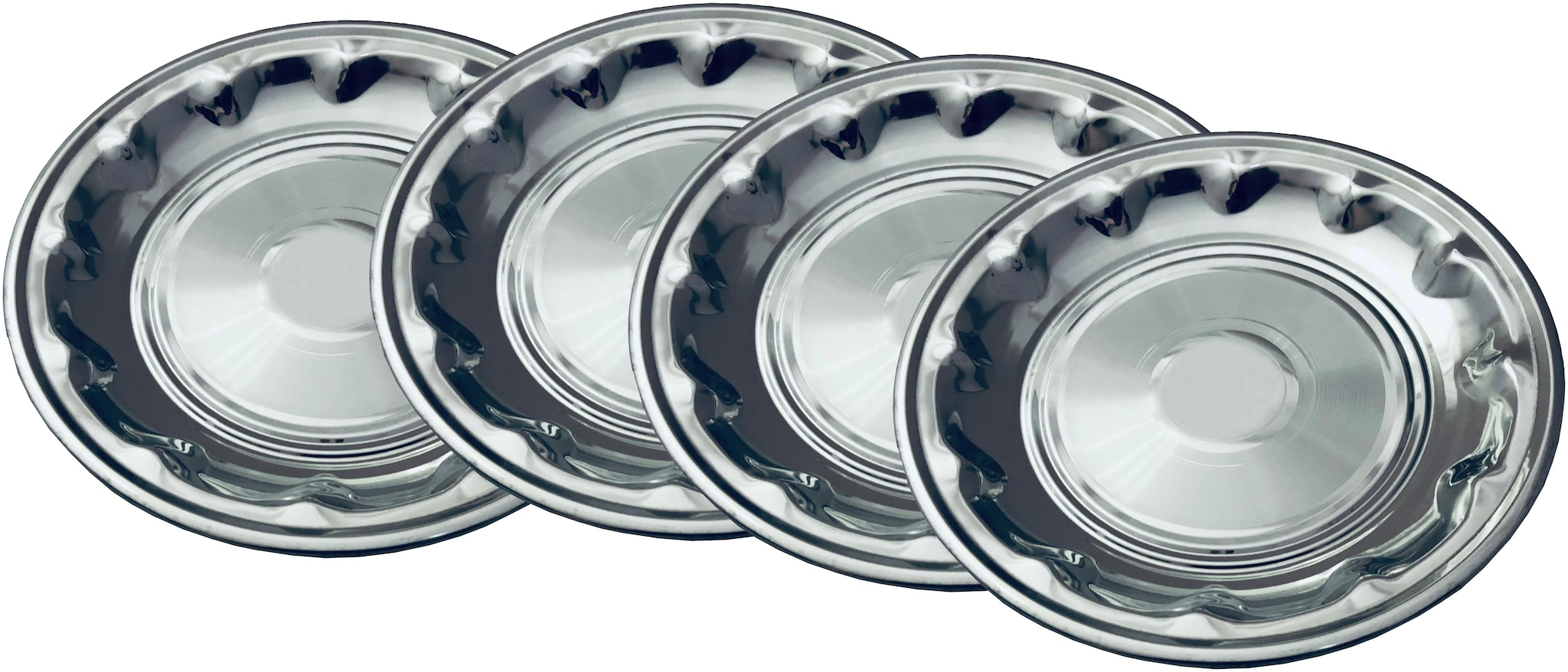 Beezy Stainless Steel Deep Design Plates;