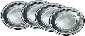 Beezy Stainless Steel Deep Design Plates;18 cm