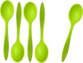 Beezy Stylish ColourfullPlastic Spoon For Ice Cream
