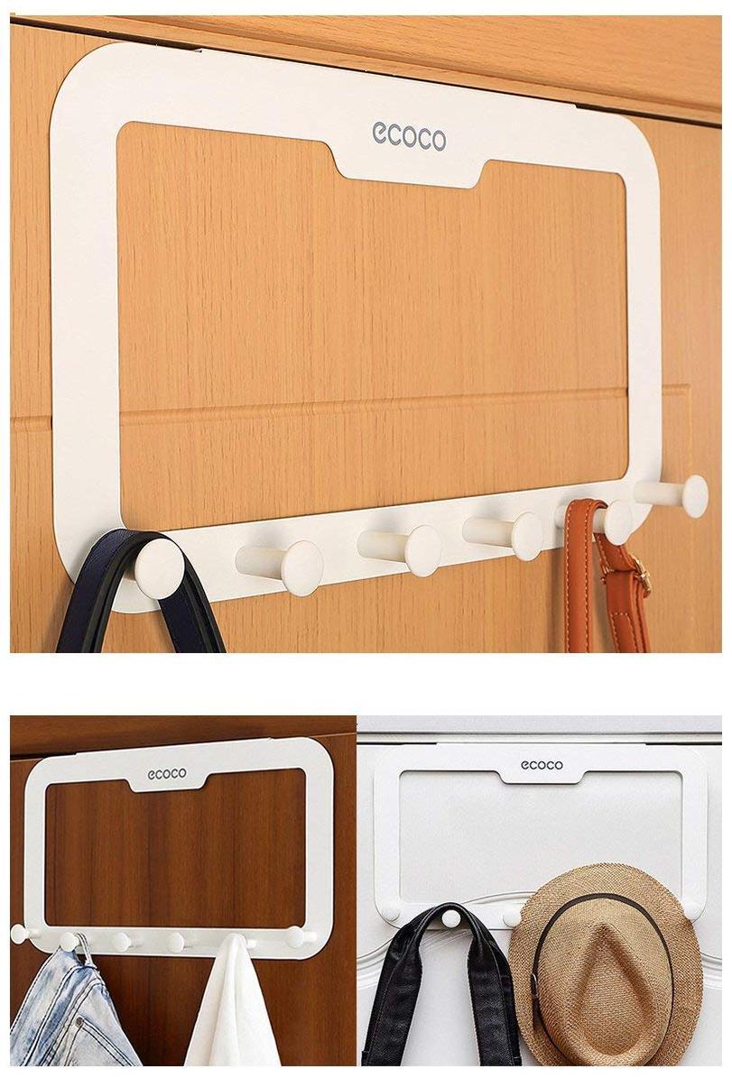 Behind the door hook hanger storage rack  6 hooks