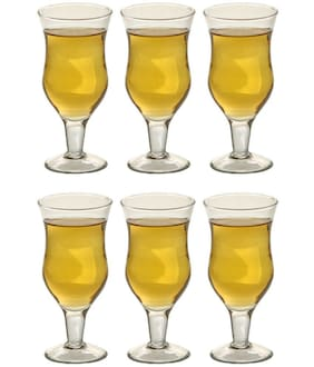 Being Creative Crystal Multipurpose Party Designer & Clear Set of 6 Whisky Glass
