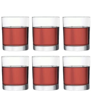 0e54f93e637 Being Creative Crystal Multipurpose Whisky Party Designer   Clear Set of 6  of 185 ml Glasses