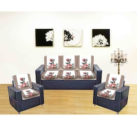 Being Handloom Premium Sofa Covers for 5 Seater Sofa Set (10 Pieces)
