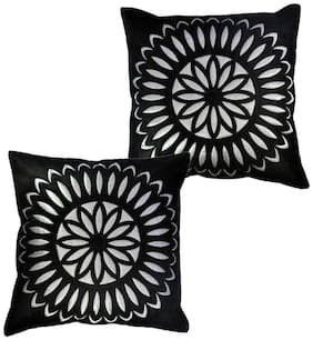 Belive-Me Velvet Black Cushion Cover Set Of 2