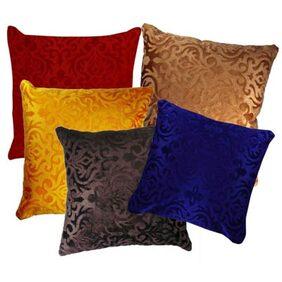 Belive-Me Velvet Multi Color Cushion Cover Set Of 5