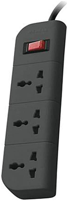 Belkin SKU0198 Three Pin Black Extension Board ( 1.5 m , 3 Socket , 1 Switches)