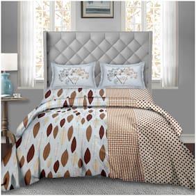 Bella Casa Cotton Printed Super king Size Bedding Set