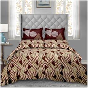 Bella Casa Cotton Abstract Super king Size Bedding Set