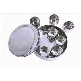 Belly Shaped Stainless Steel Spice Box Medium