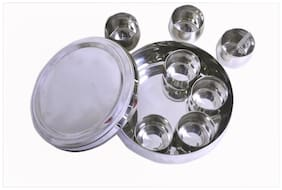 Belly Shaped Stainless Steel Spice Box Large
