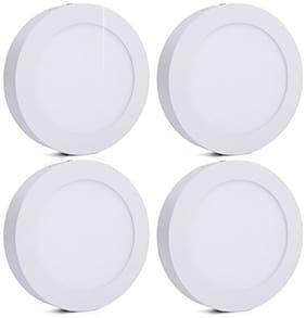 Bene LED 6w Round Surface Panel Ceiling Light color of LED White (Pack of 4 pcs)