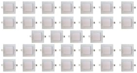 Bene LED 6w Square Slim Panel Ceiling Light, Color of LED Warm White (Yellow) (Pack of 32 pcs)