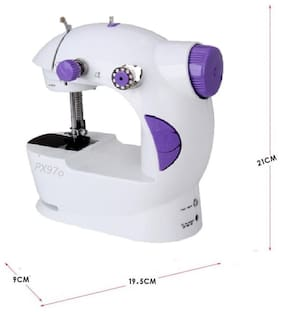 Benison India 4 in 1 Mini Electric Power mode with sealer Electric Sewing Machine ( Built-in Stitches 45)