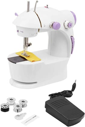 Benison India 4 In 1 Compact Mini With Foot Pedal Bobbin And Adapter Sewing Machine ( Built-in Stitches 1)