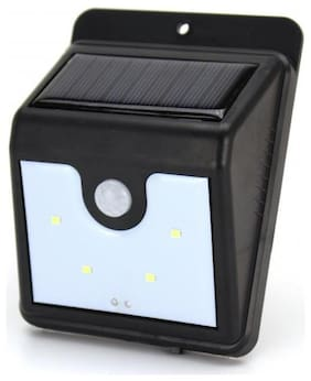 Benison India Solar Lamp for Home, Solar LED Lights for Garden Home Decoration Outdoor Automatic Exterior Battery Lantern Water Proof(4 LED)