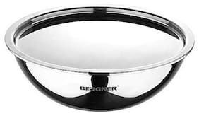Bergner Argent Triply Stainless Steel Tasra with Stainless Steel Lid,18 cm,1 L,Induction Base,Silver
