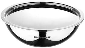 Bergner Argent Stainless Steel Tasra With Lid,20 cm,1.5 L Induction Base