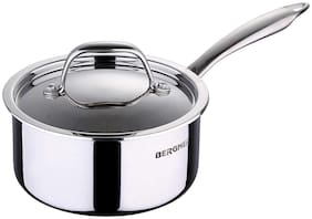 BERGNER 1.6 L With Lid Sauce Pan Induction Bottom ( Stainless Steel , Set of 1 )