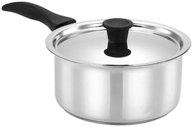 Bergner Essential Stainless Steel Saucepan With Stainless Steel Lid,14 cm,1000 ml,Induction Base,Silver