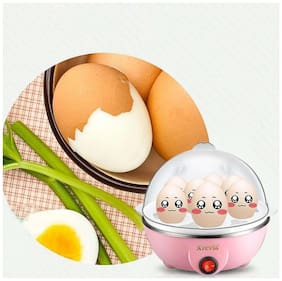 BEST BRAND ROYALDEAL ABS FRESH PLASTIC EGG-POACH-1 Eggs Device Multi-function Compact Stylish Electric Egg Cooker Boiler Steamer Automatic Safe Power-Off Cooking Tools Kitchen Utensil(Multi-color)