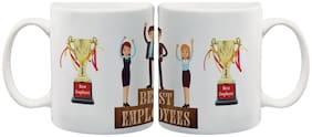 Best Employee Ceramic Mug by Mugshug