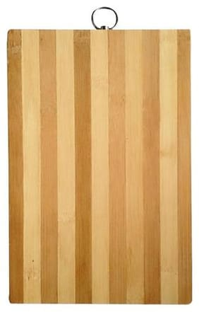 Best for kitchen  Bamboo Wooden Cutting Chopping Board with Handle (34cm x 24cm) 1pc.