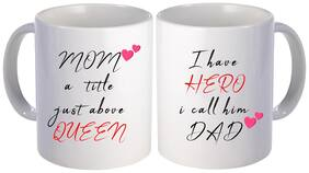 best Mom and dad quotes printed gift design on white ceramic coffee mug