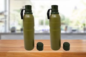 Bewitching 750 ml Stainless steel Green Vaccum flask - Set of 2