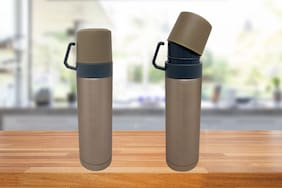 Bewitching 500 ml Stainless steel Assorted Vaccum flask - Set of 2