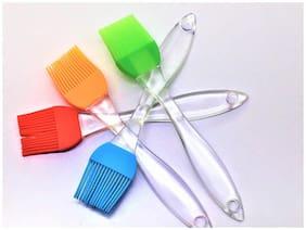 BG Bazzar Gali Plastic Assorted Oil Brushes ( Set of 4 pcs )